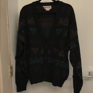 🔥80s vintage cardigan sweater
